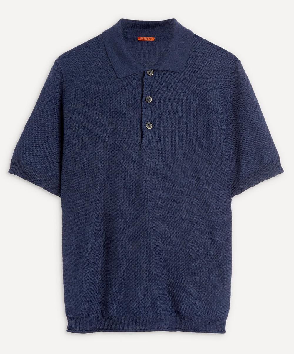 Barena - Cotton-Linen Knit Polo-Shirt