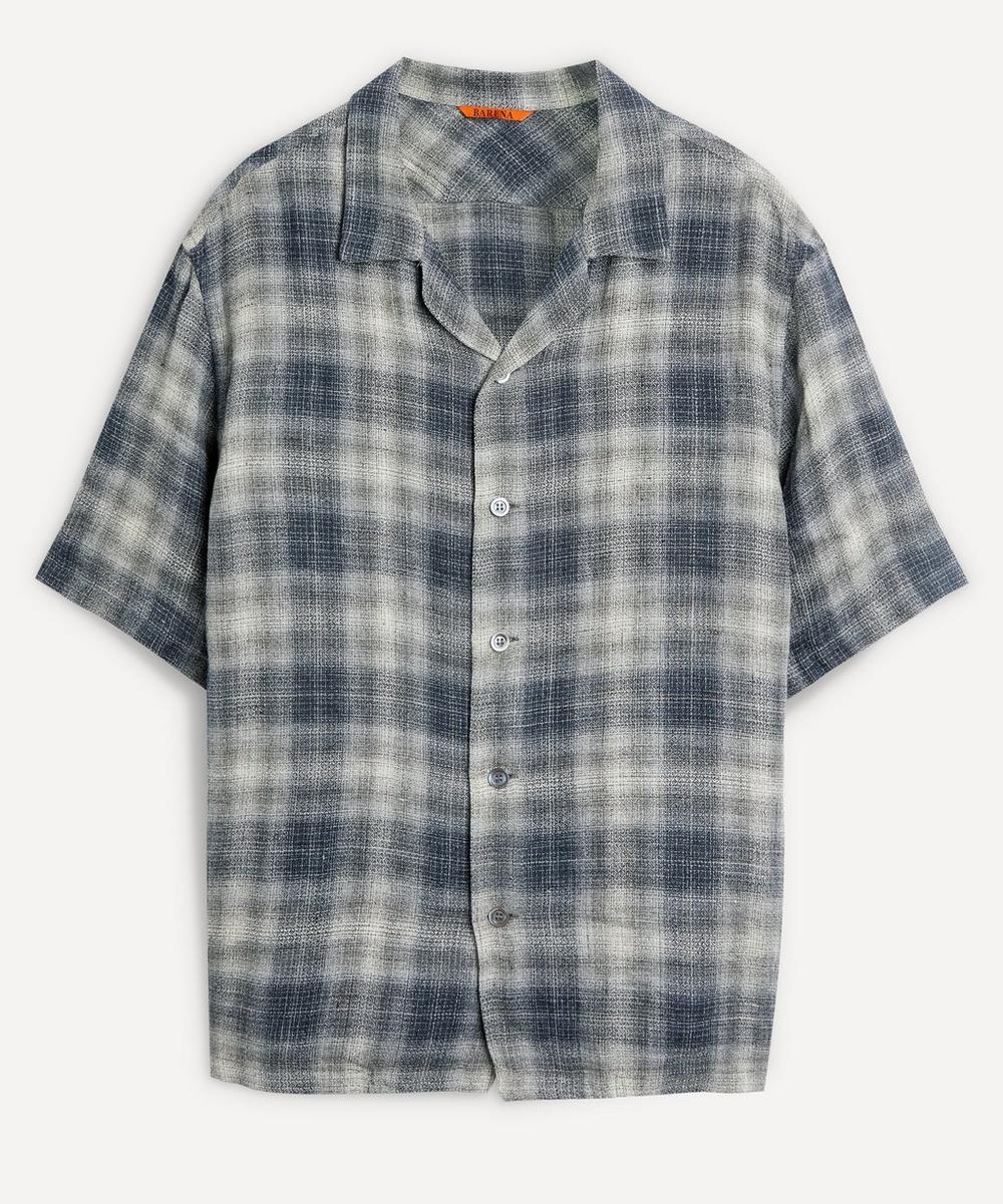 Barena - Check Linen Bowling Shirt
