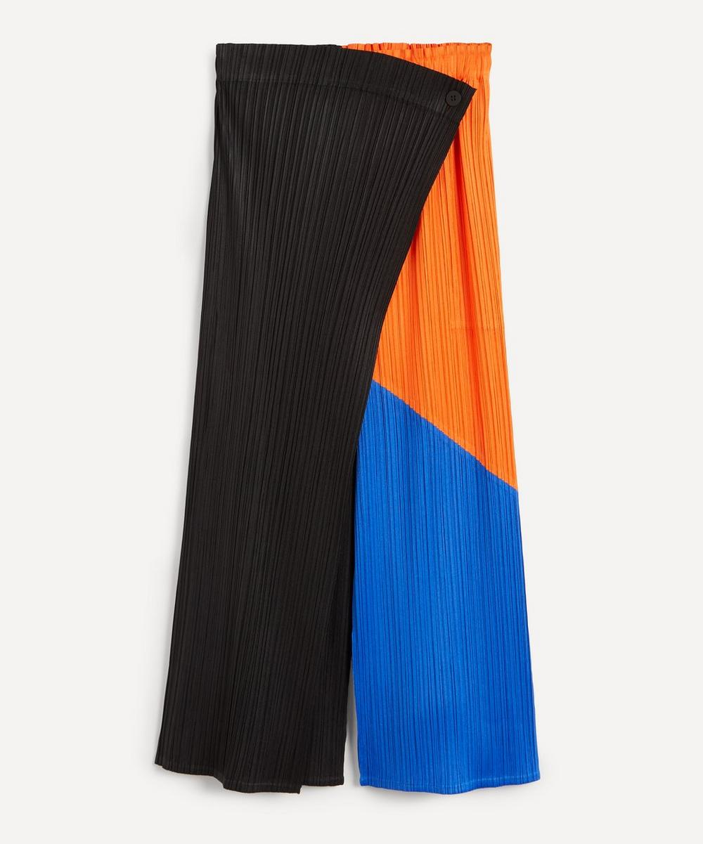 Pleats Please Issey Miyake - Collage Pleated Trousers