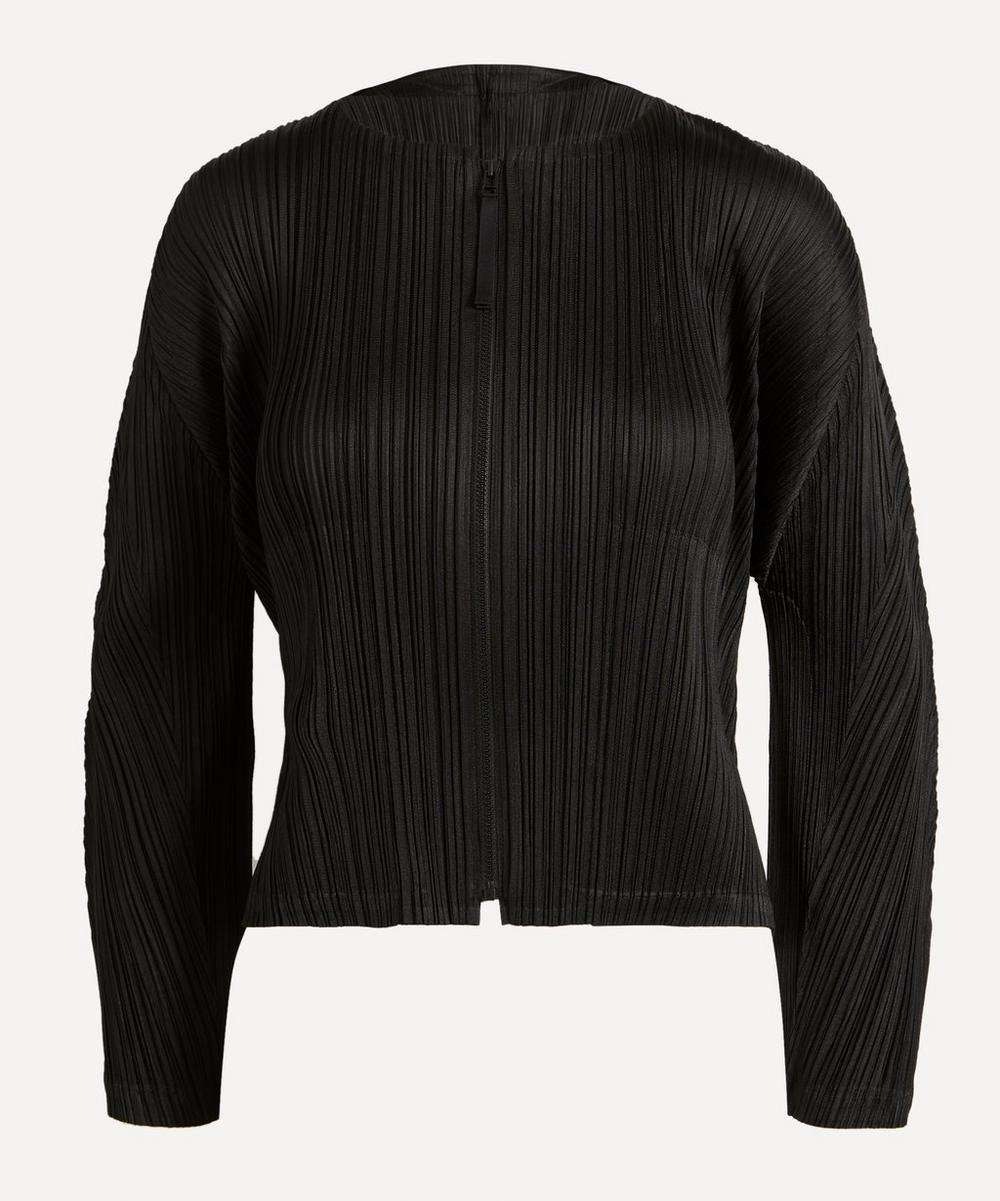 Pleats Please Issey Miyake - Monthly Colours Zip-Up Cardigan