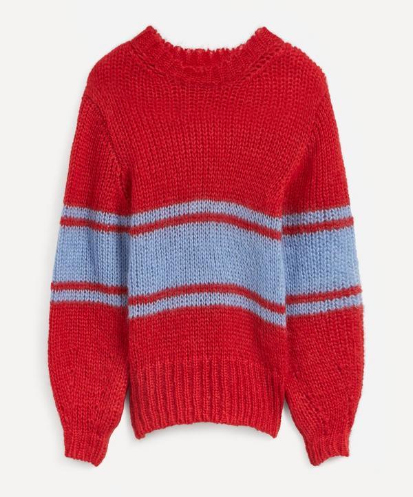 ALEXACHUNG - Stripe Open-Knit Mohair-Mix Jumper
