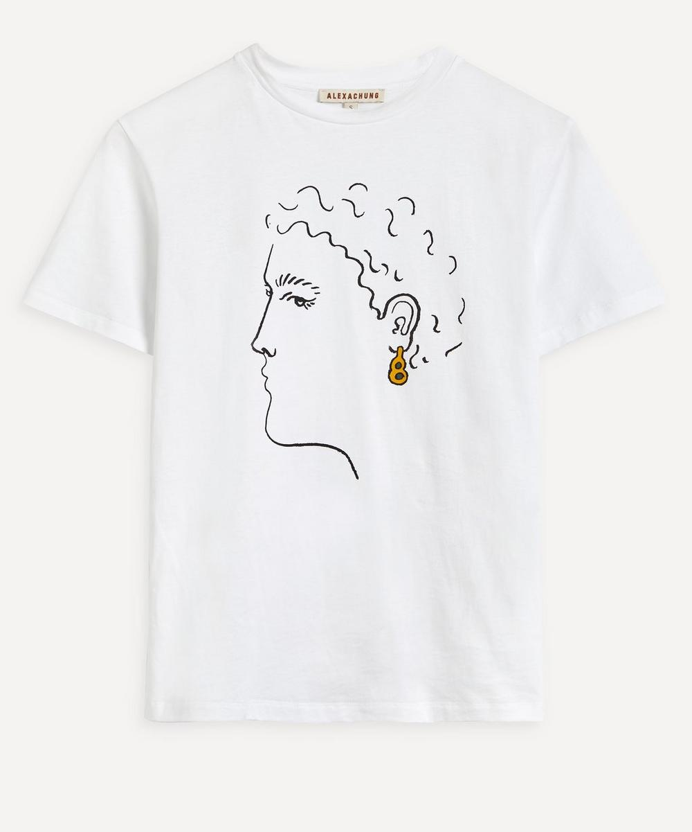 ALEXACHUNG - Earring Boxy T-Shirt