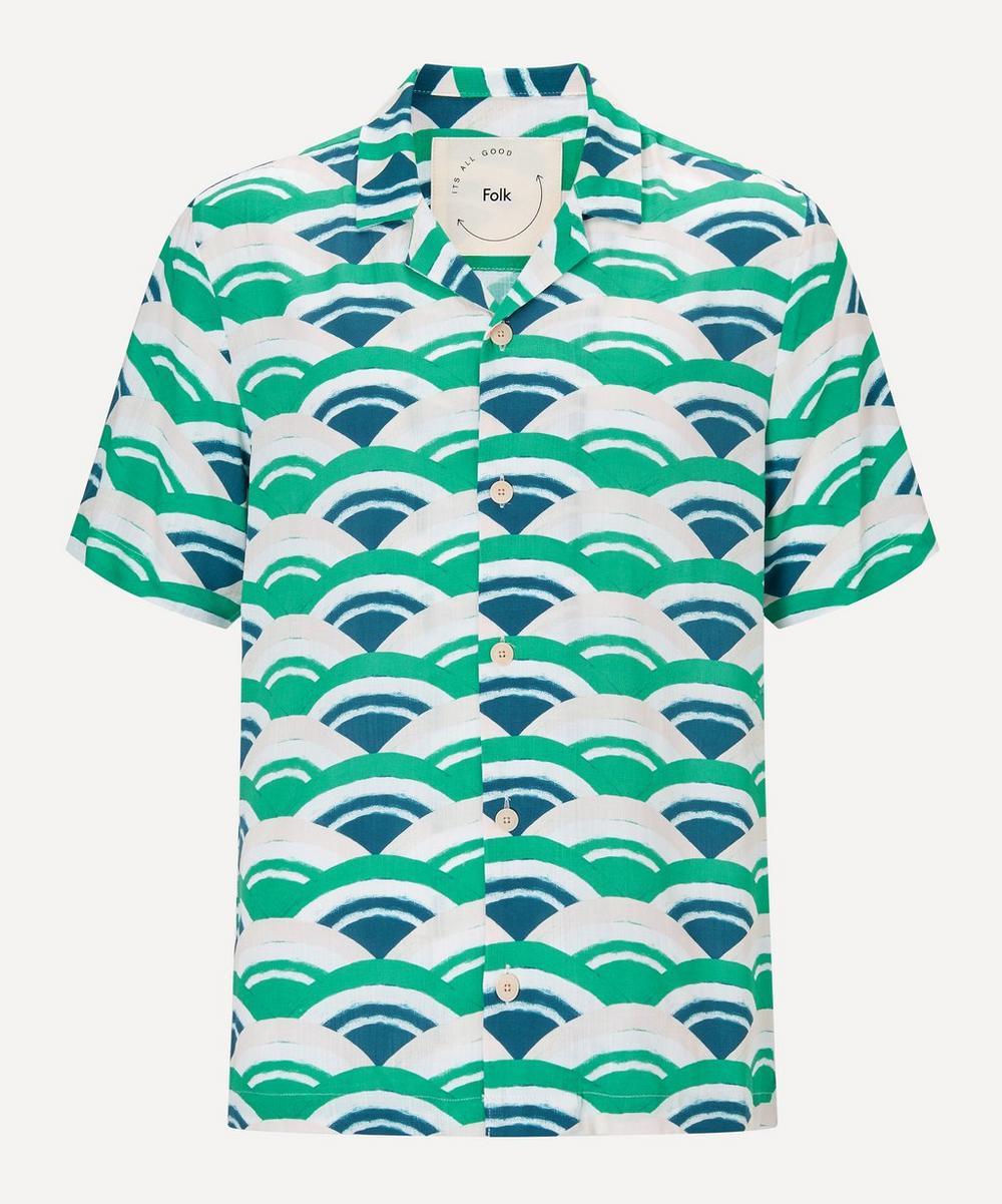 Folk - Fan Print Short-Sleeve Shirt