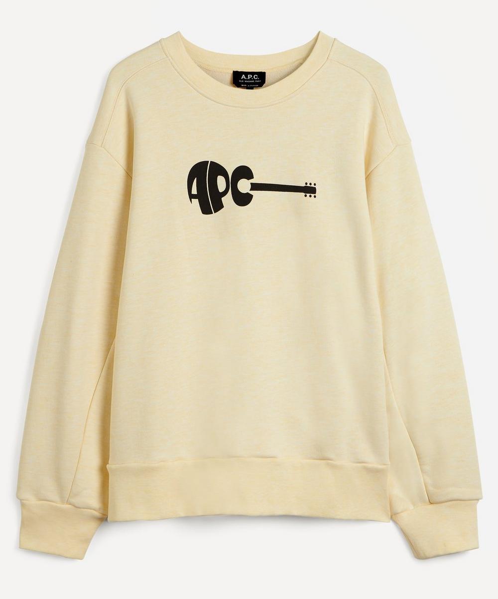 A.P.C. - Jaheim Guitar Logo Sweatshirt