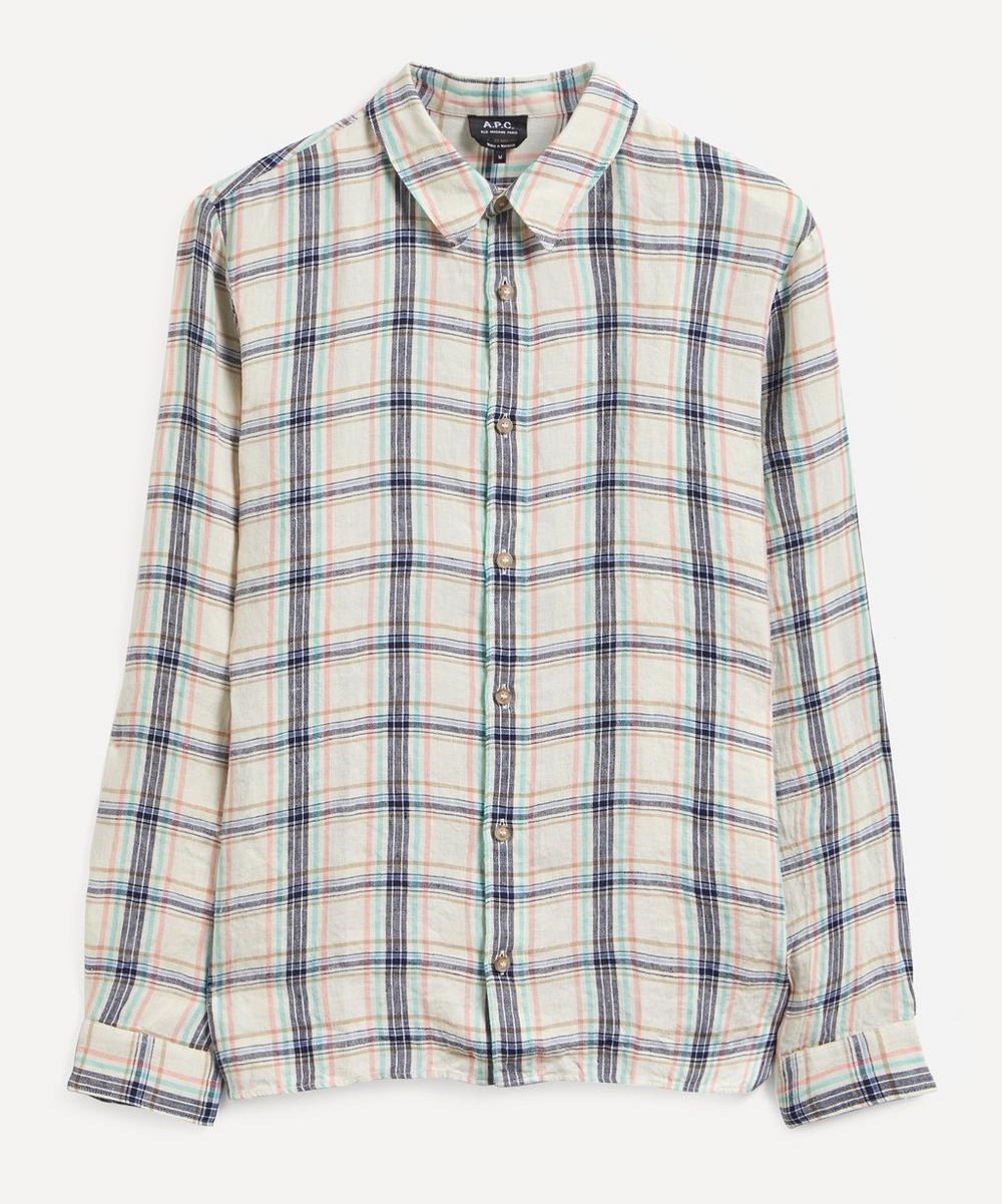A.P.C. - Vincent Check Linen Shirt
