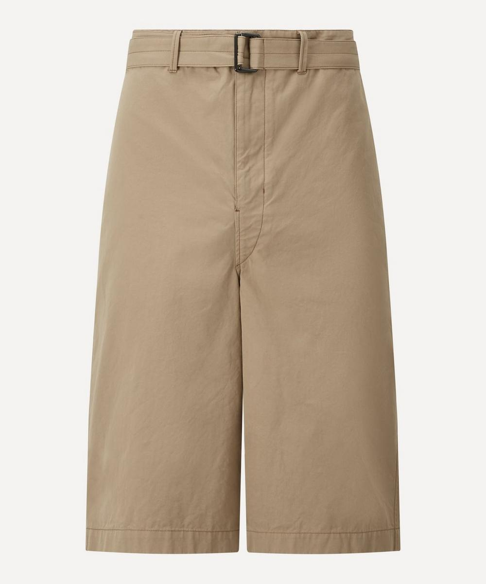 Lemaire - Belted Cotton Shorts