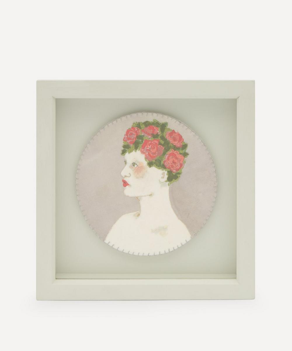 Elizabeth Loveday - Flower Cap Framed Embroidery