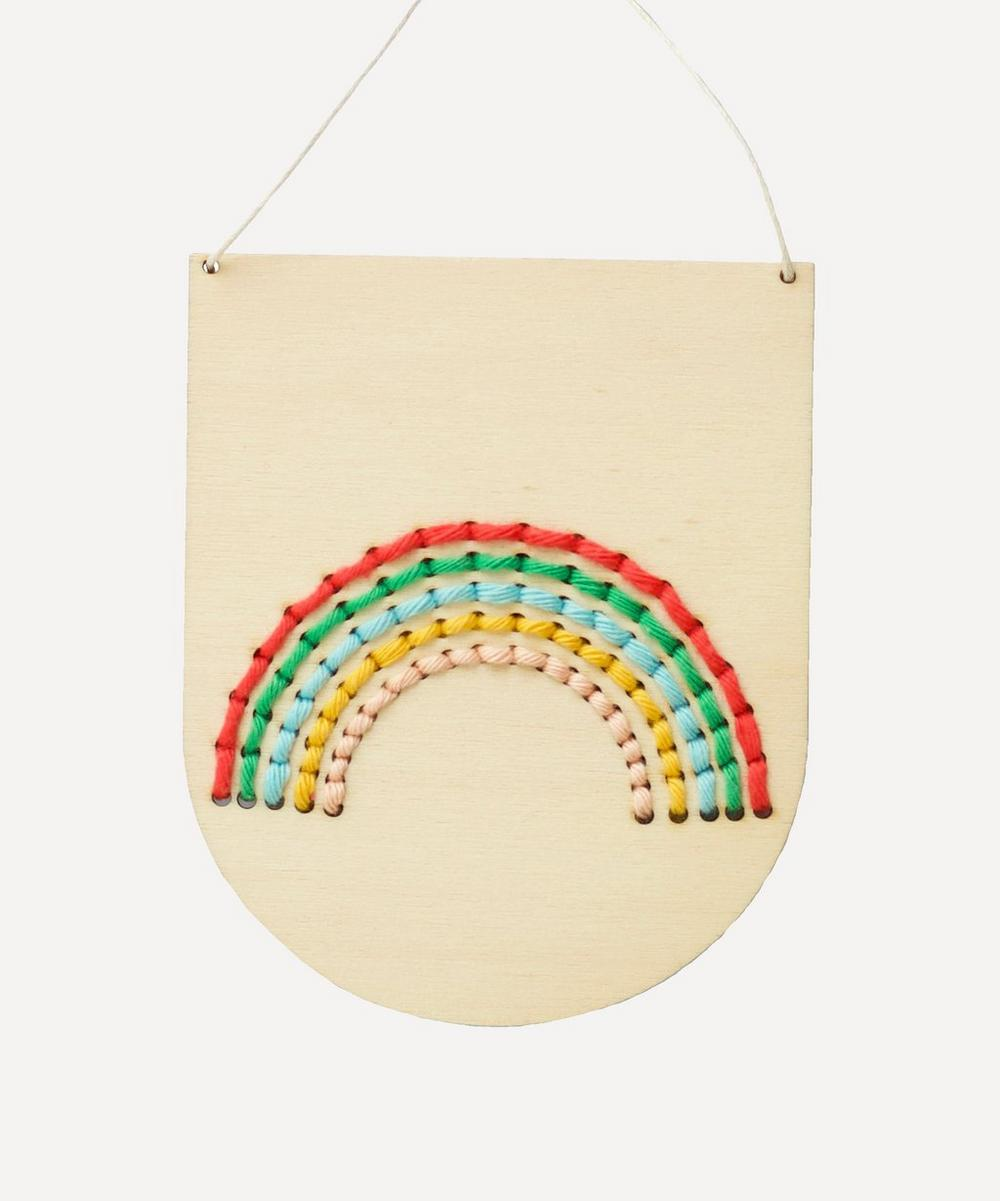 Cotton Clara - Rainbow Wooden Banner Embroidery Kit