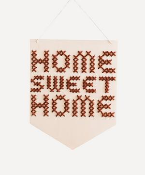 Home Sweet Home Wooden Banner Cross Stitch Kit