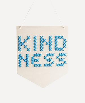 Kindness Wooden Banner Cross Stitch Kit
