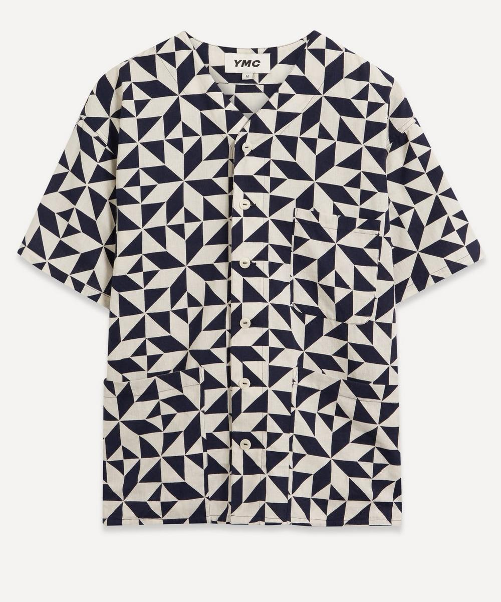 YMC - Star Tile Print Baseball Shirt
