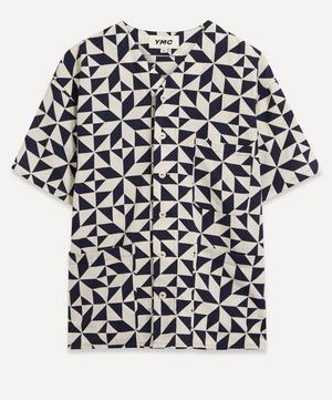Star Tile Print Baseball Shirt