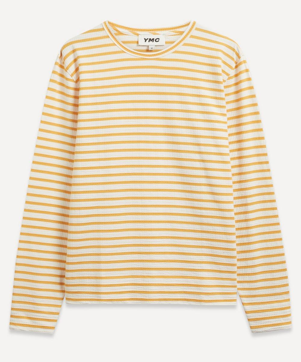 YMC - X Stripe Jersey Sweatshirt
