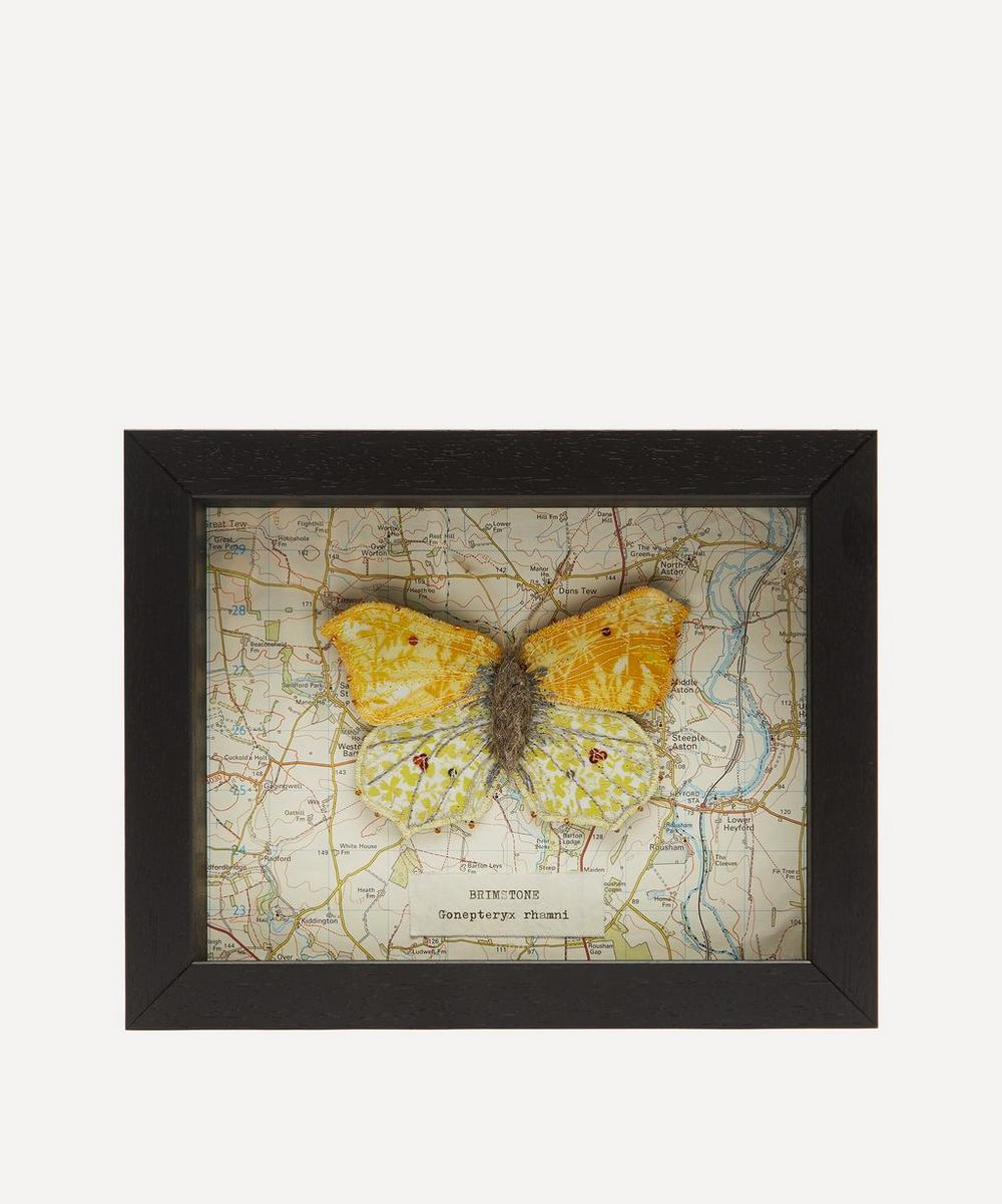 Heather Everitt - Brimstone Embroidered Butterfly Framed
