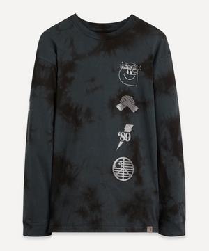 Long-Sleeve Tab Smiley T-Shirt