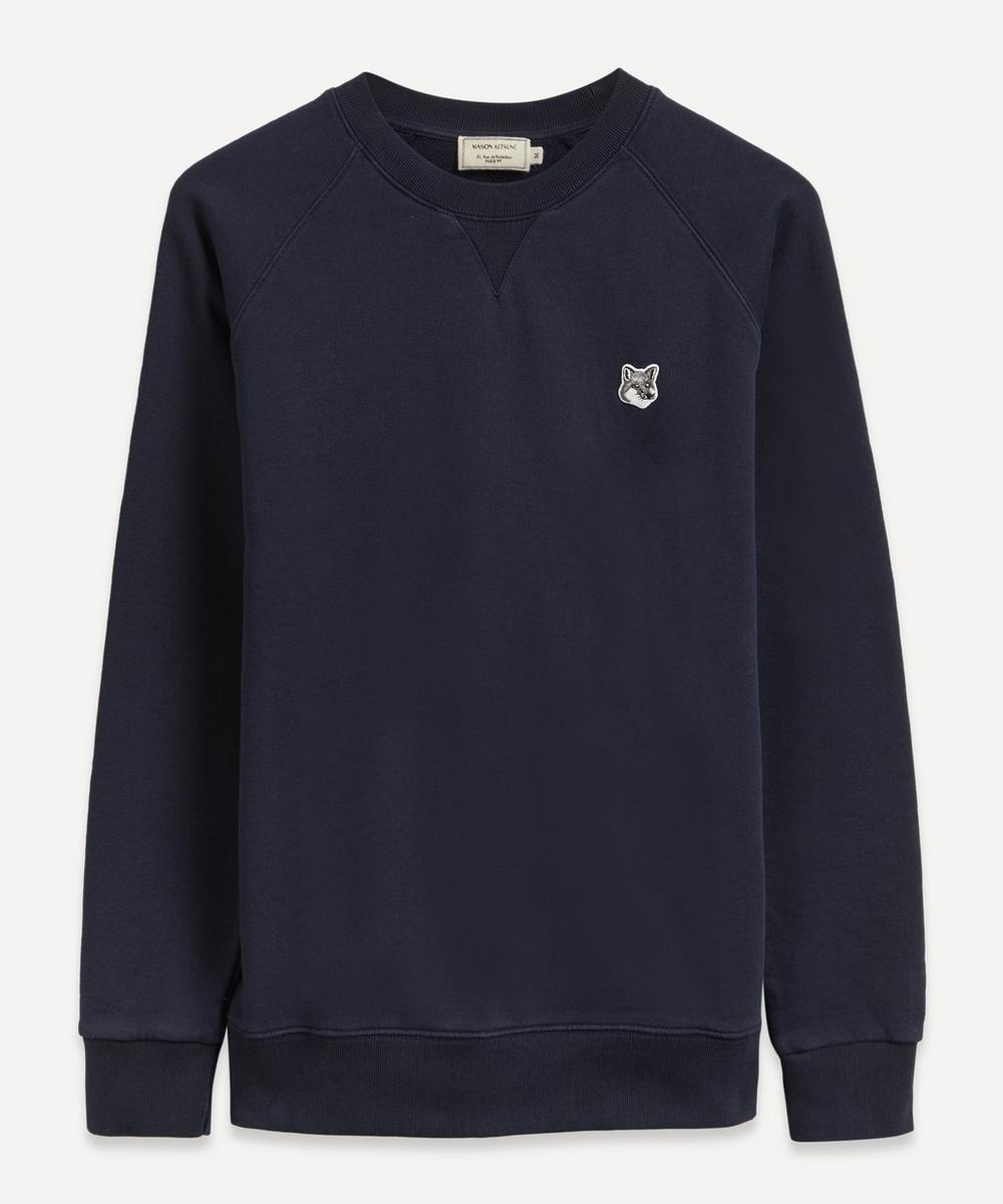 Maison Kitsuné - Grey Fox Head Patch Sweatshirt