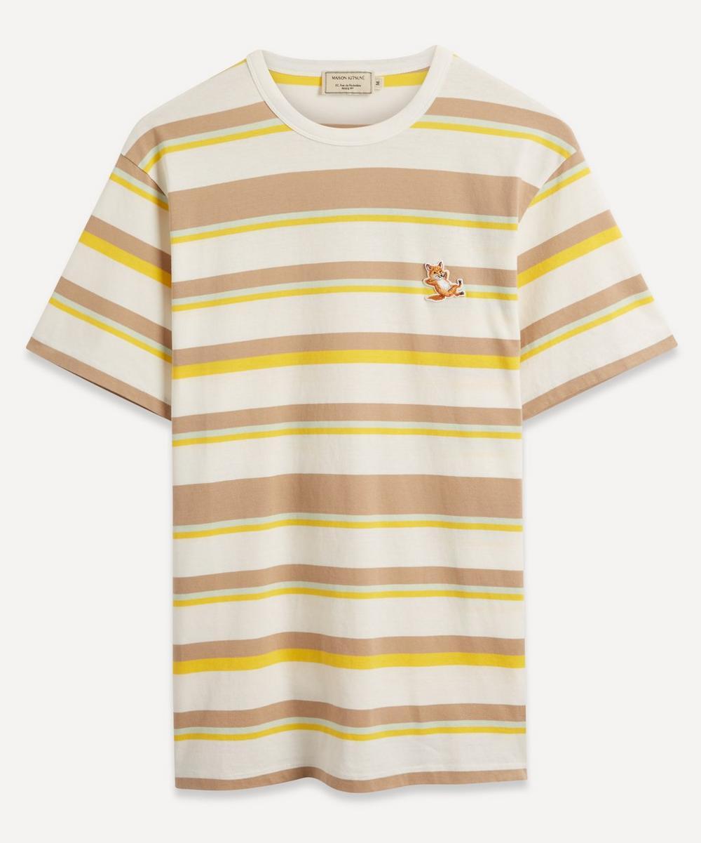 Maison Kitsuné - Chillax Fox Patch Striped T-Shirt