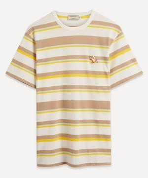 Chillax Fox Patch Striped T-Shirt