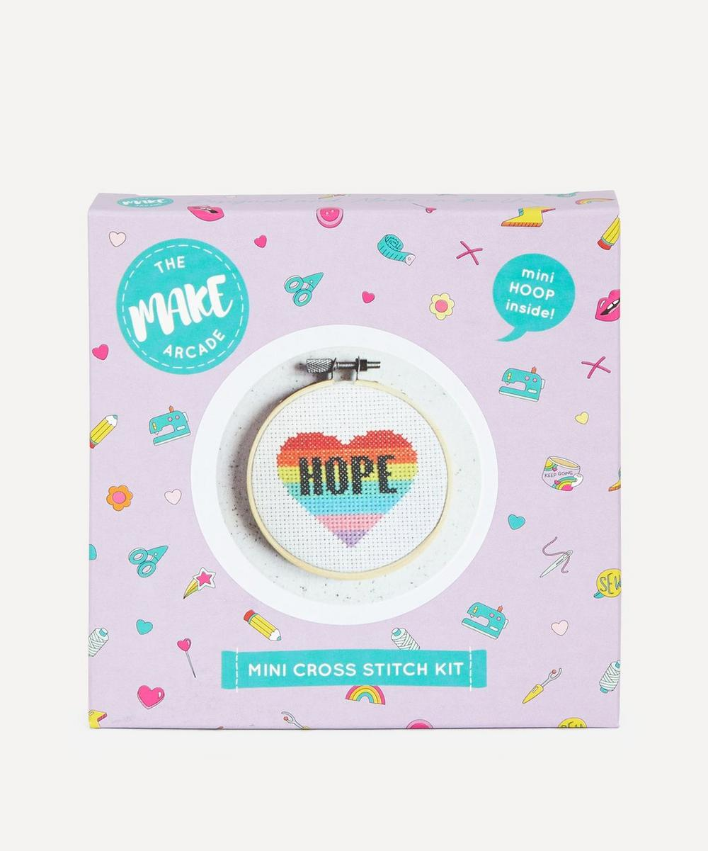 The Make Arcade - Hope Heart Mini Cross Stitch Kit image number 0