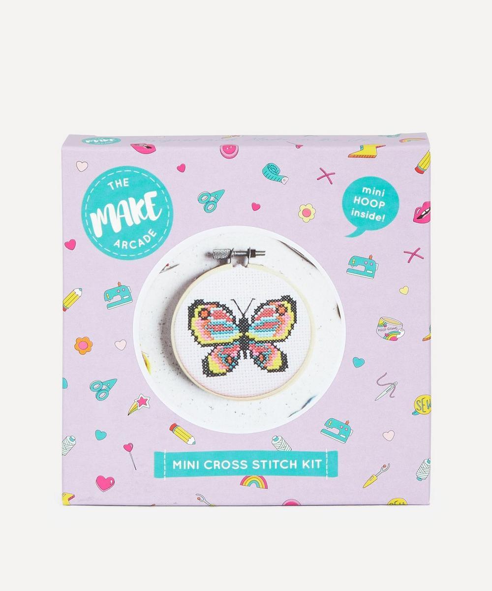The Make Arcade - Butterfly Mini Cross Stitch Kit