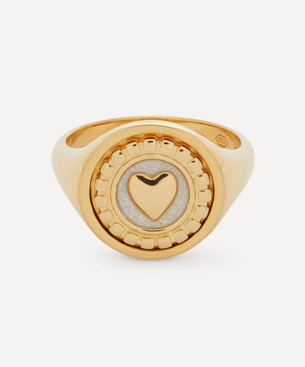 Maria Black - Gold-Plated Love Coin and Karlie Ring Set