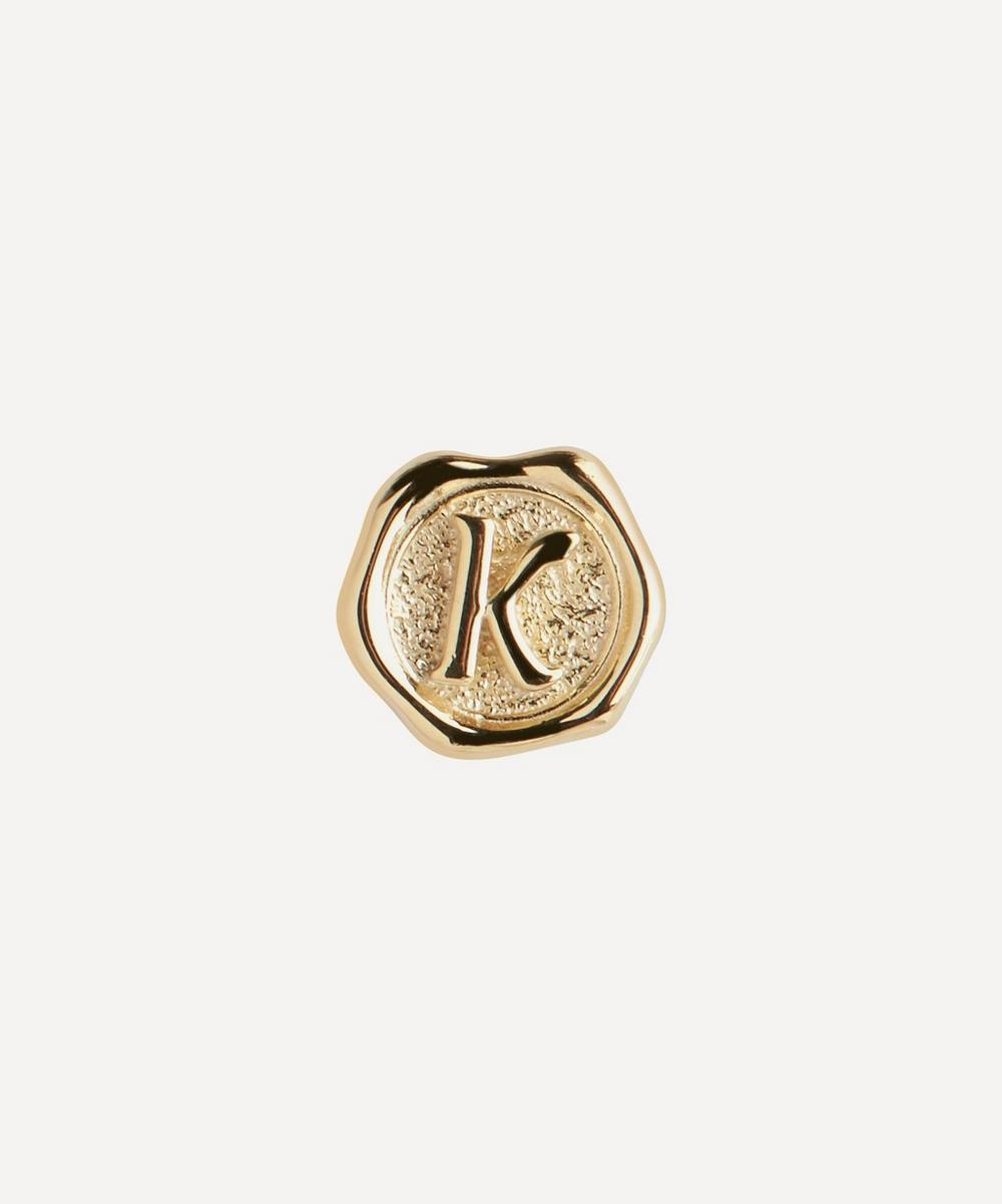 Maria Black - Gold-Plated Signet Letter K Coin