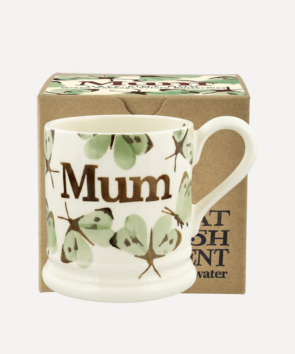 Emma Bridgewater - Green Cabbage White Butterfly Mum Boxed Half-Pint Mug