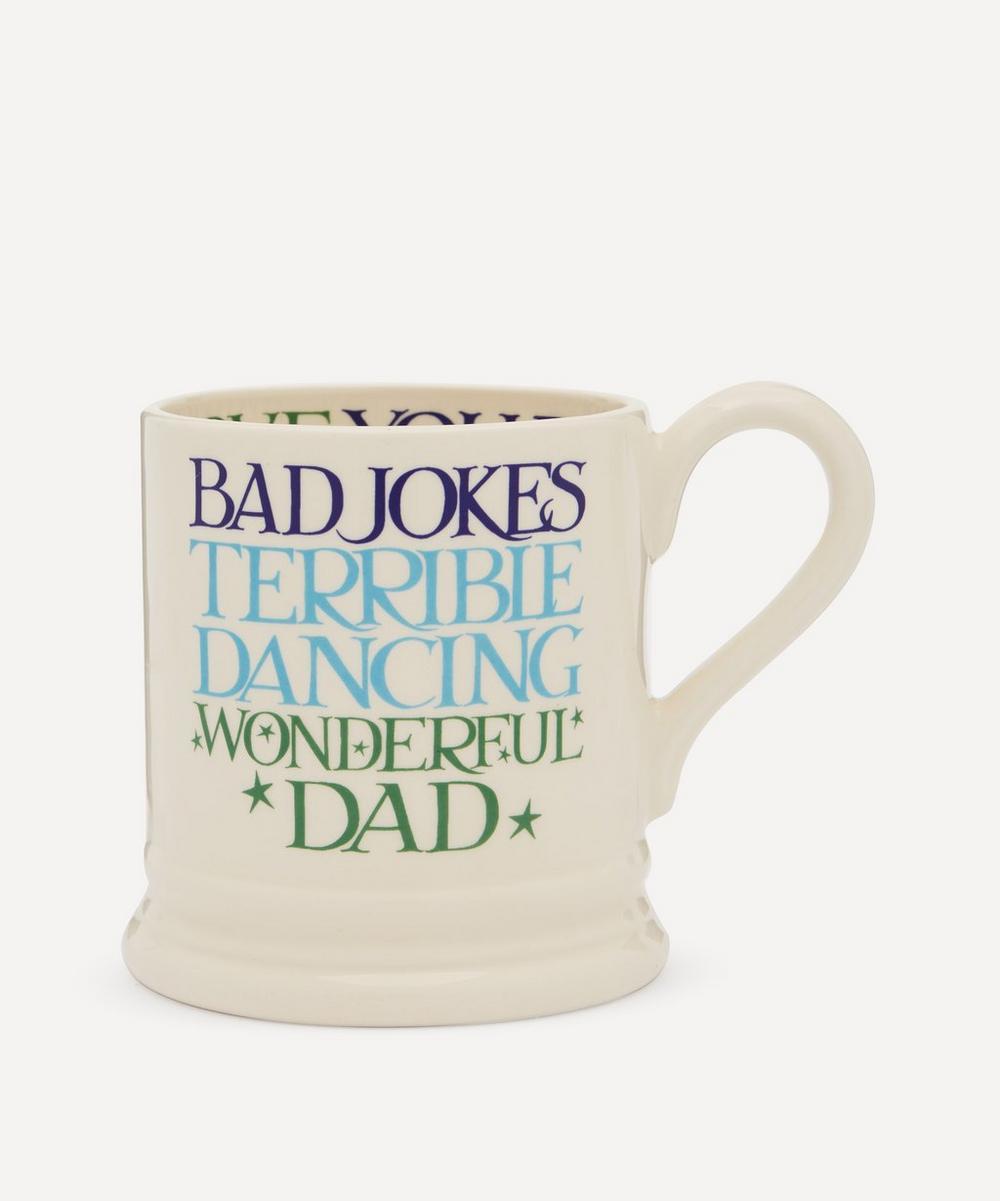 Emma Bridgewater - Blue and Green Toast Wonderful Dad Boxed Half-Pint Mug