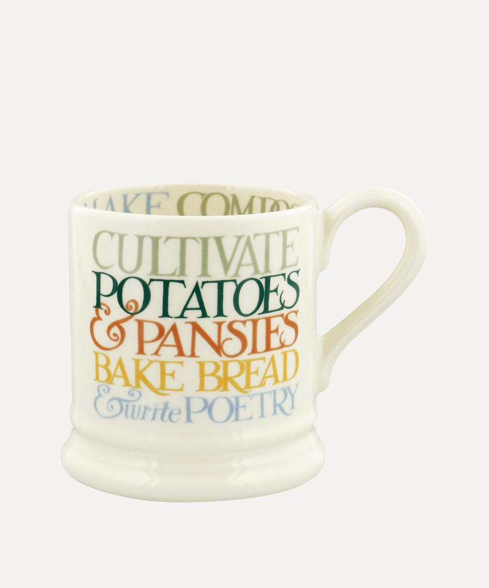 Emma Bridgewater - Rainbow Toast All My Good Intentions Half-Pint Mug