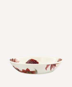 Flowers Red and Pink Dahlias Medium Pasta Bowl