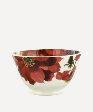 Flowers Red and Pink Dahlias Small Old Bowl
