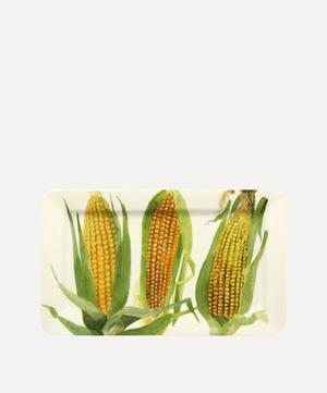 Vegetable Garden Sweetcorn Medium Oblong Plate