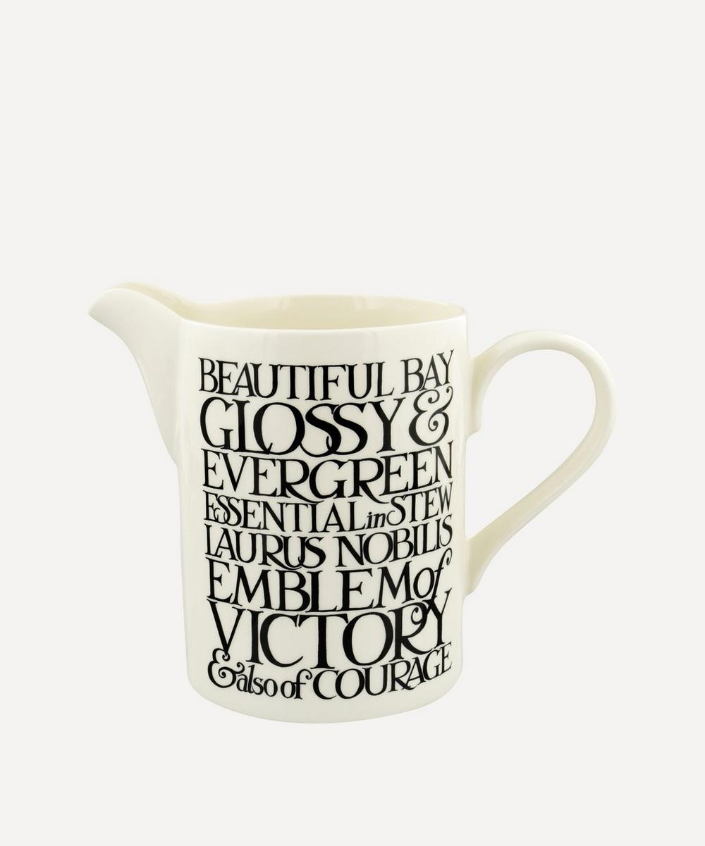 Emma Bridgewater - Black Toast Beautiful Day Medium Straight Jug
