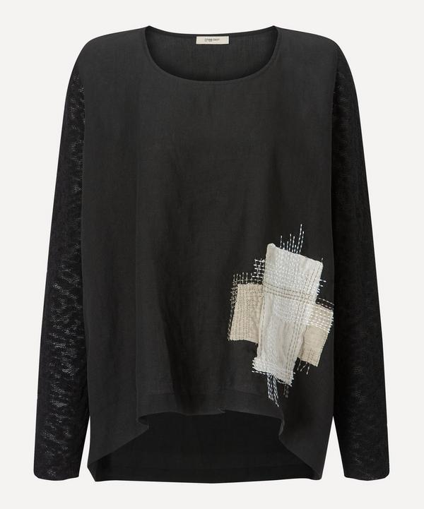 Crea Concept - Linen Patchwork Pullover