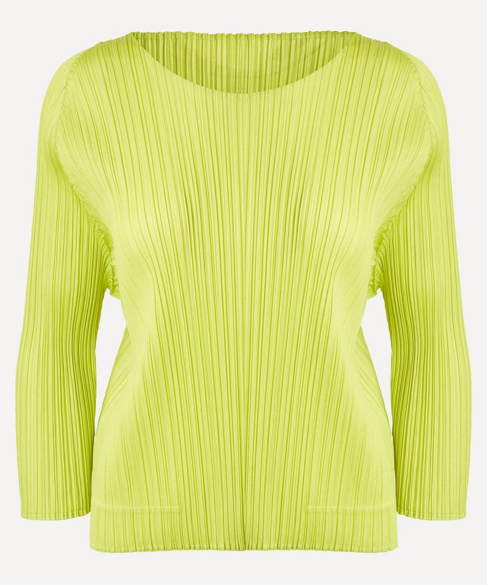 Pleats Please Issey Miyake - February Monthly Colours Round Neck Top