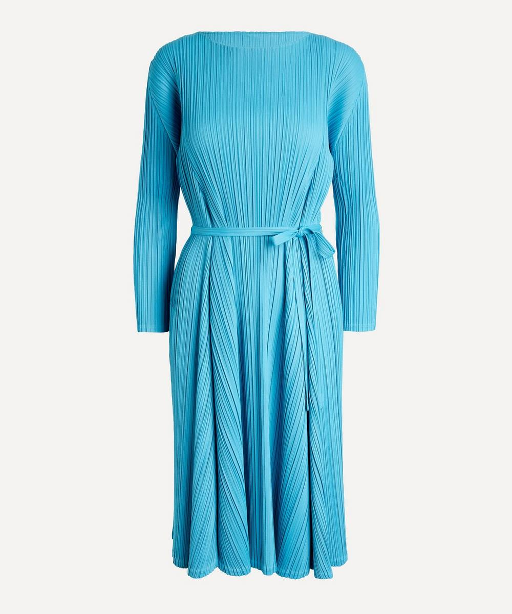 Pleats Please Issey Miyake - Opaque Belted Dress