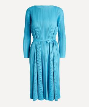 Opaque Belted Dress