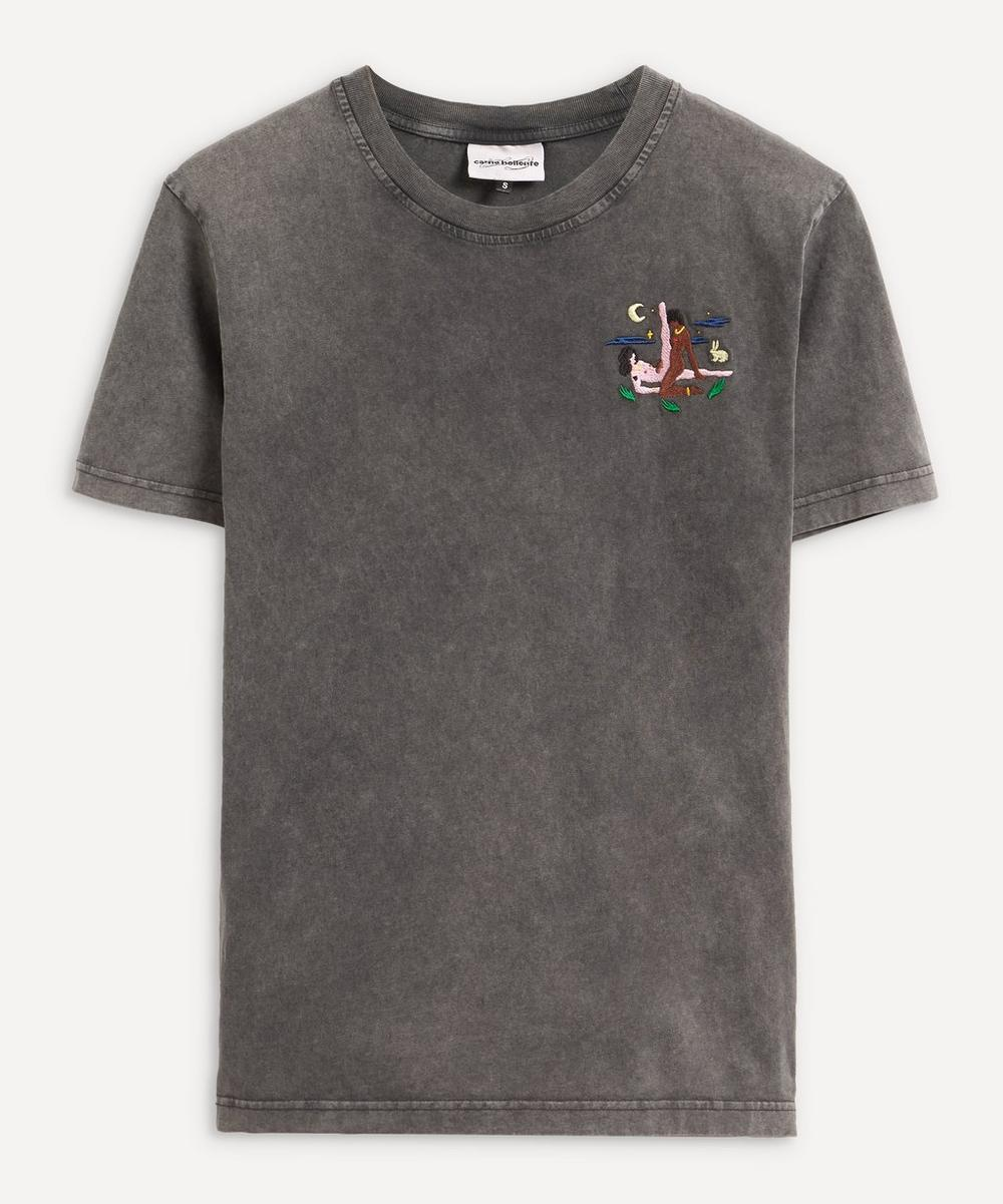 Carne Bollente - The Night Scissor Embroidered T-Shirt