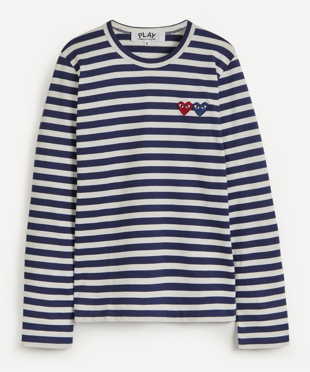 Comme des Garçons Play - Long Sleeve Stripe Cotton T-Shirt