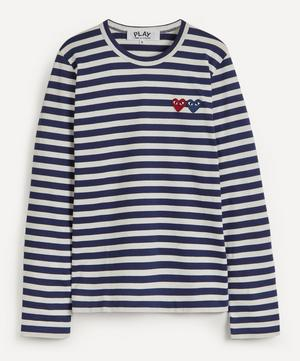 Long Sleeve Stripe Cotton T-Shirt