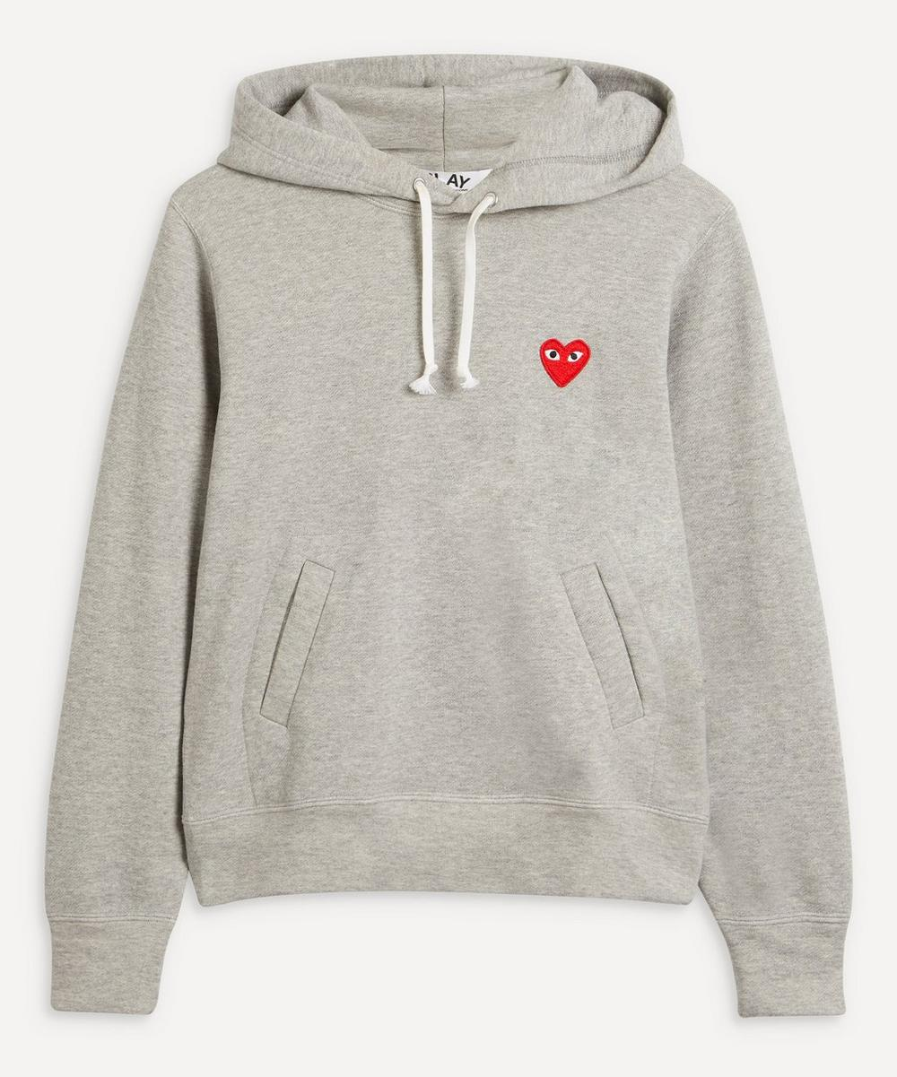 Comme des Garçons Play - Embroidered Logo Cotton Hoodie