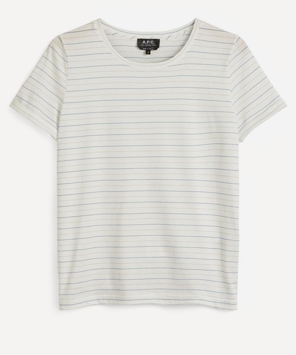 A.P.C. - Sallie Metallic Stripe T-Shirt