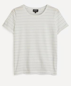 Sallie Metallic Stripe T-Shirt