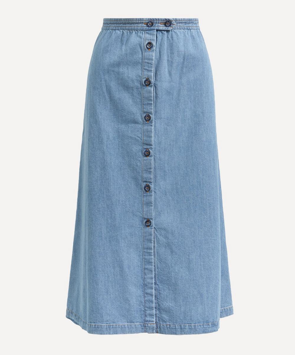 A.P.C. - Deauville A-Line Denim Skirt