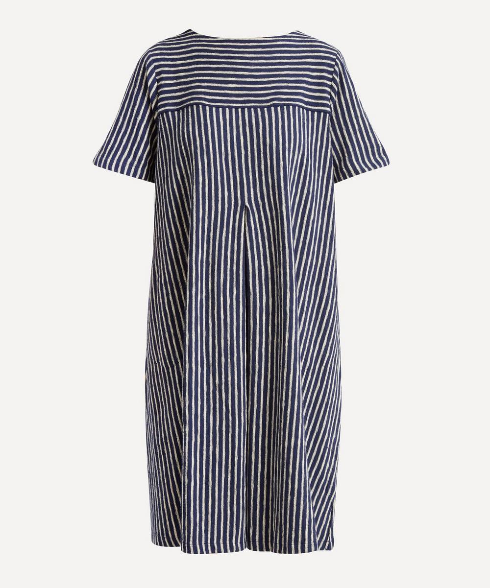 YMC - Cruz Big Pleats Striped Cotton Dress
