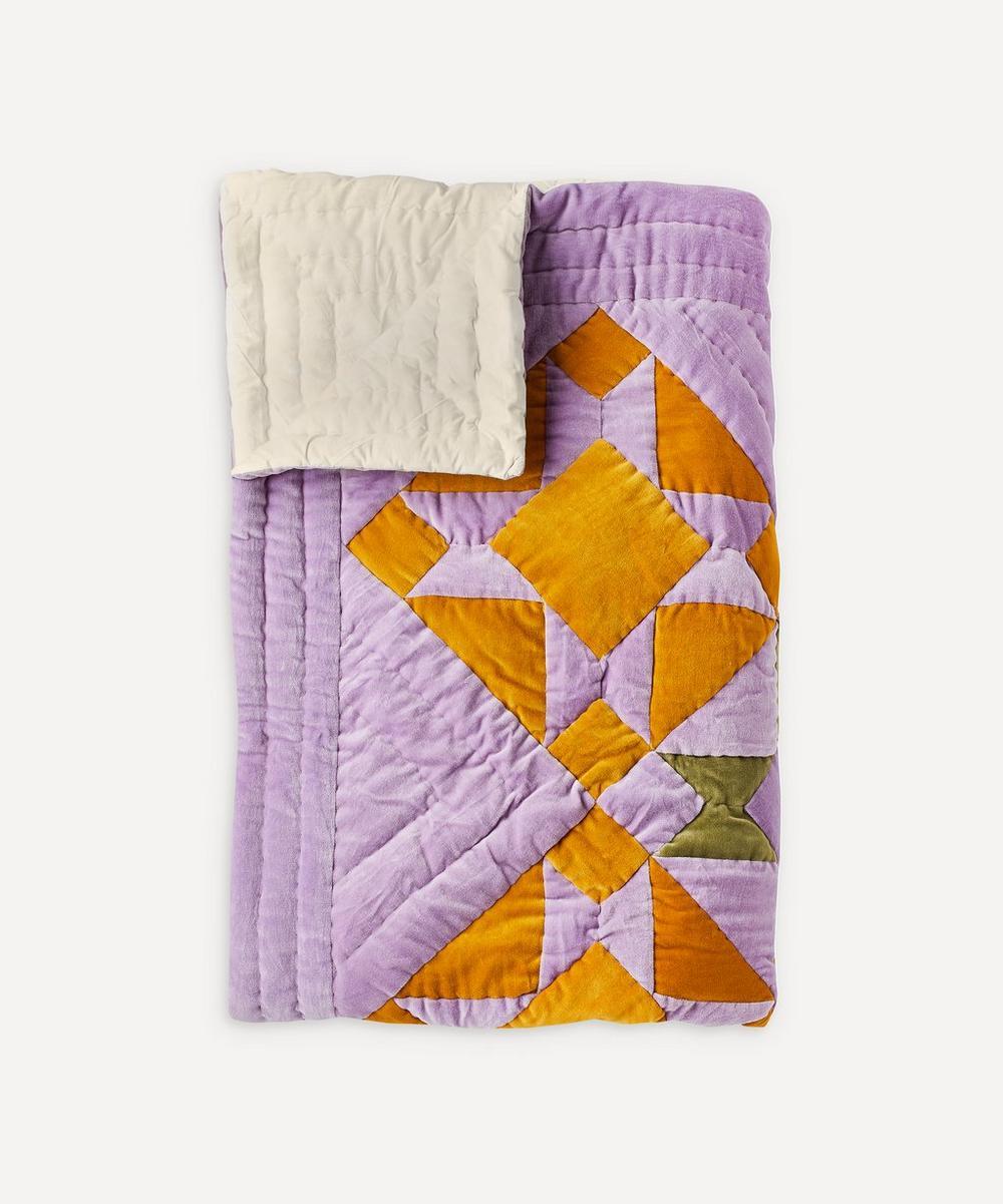 Projektityyny - Sinikello Cotton Velvet Patchwork Quilt