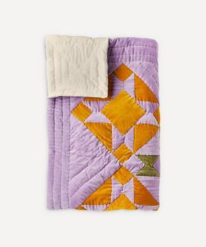 Sinikello Cotton Velvet Patchwork Quilt