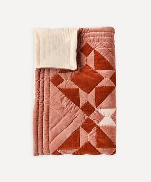 Kaneli Cotton Velvet Patchwork Quilt