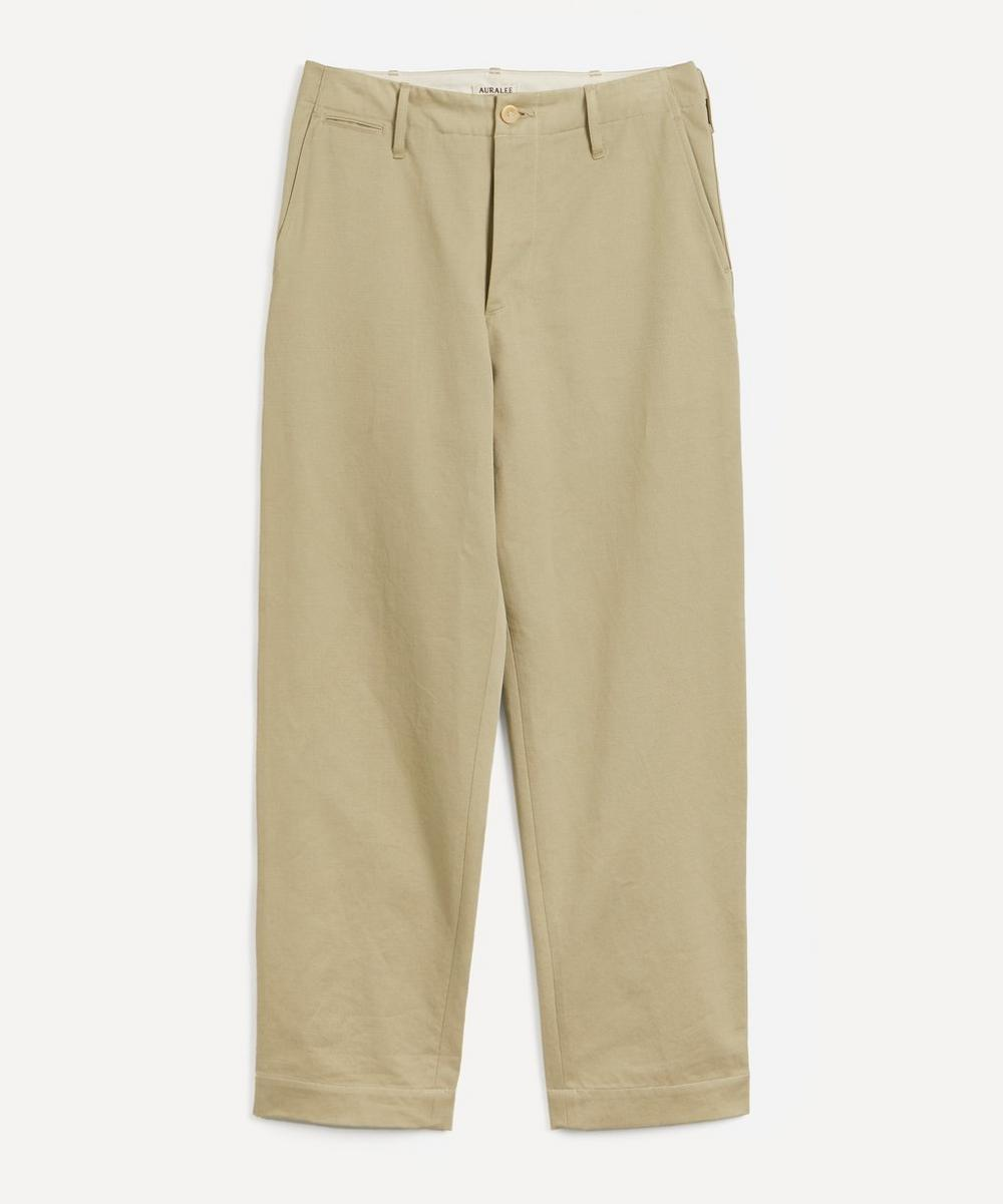 Auralee - Washed Light Chino Trousers