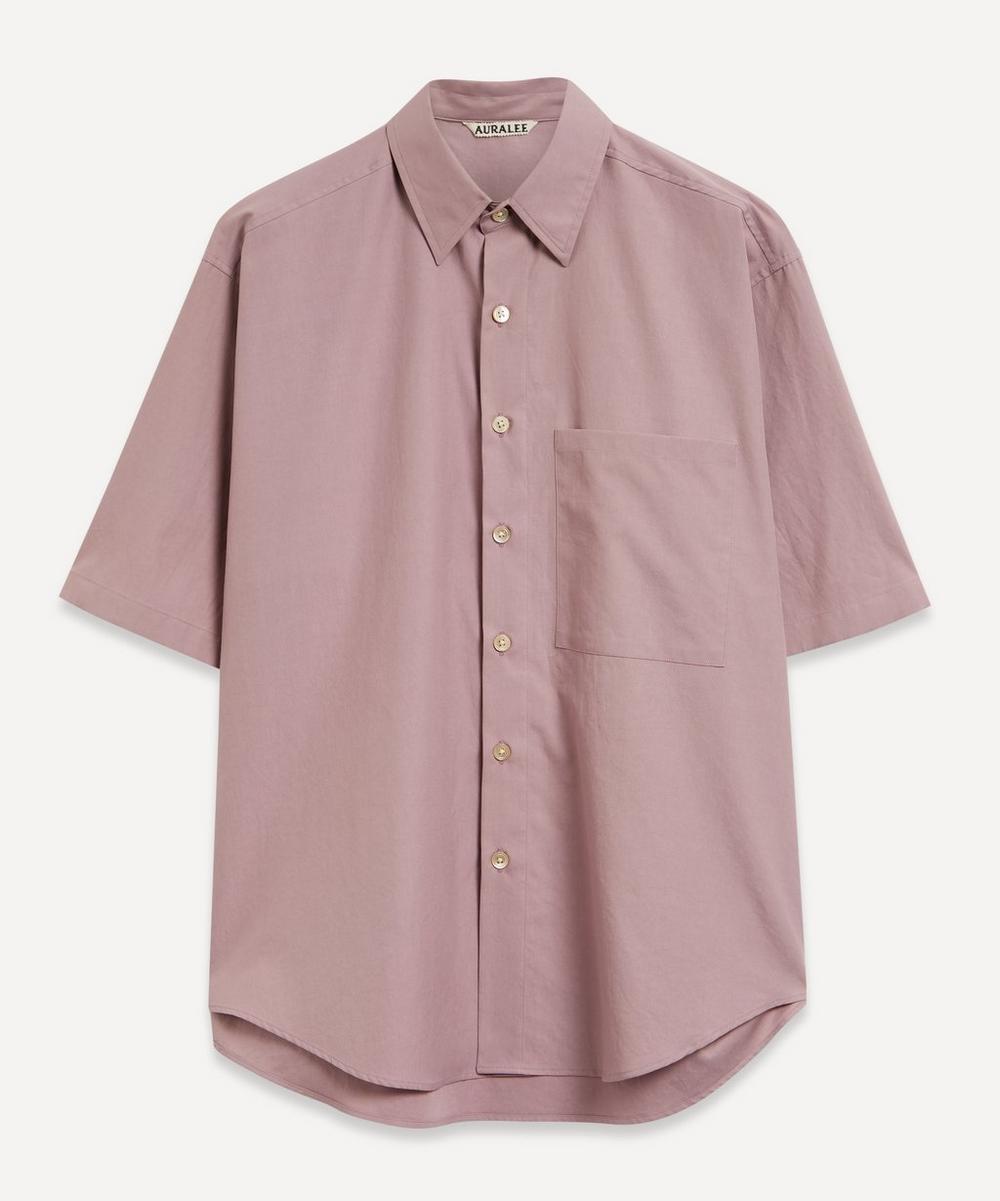 Auralee - Washed Finx Twill Half-Sleeve Shirt